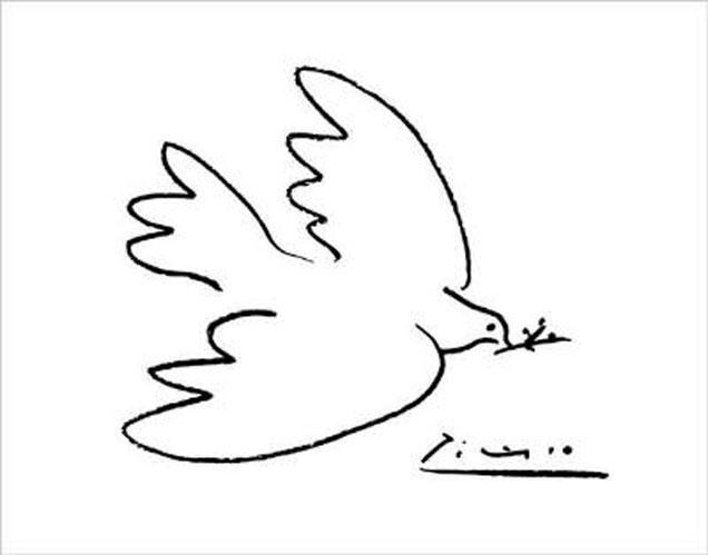 """Bien-aimé La colombe de la Paix"""" de Pablo Picasso - Mélusine la fée VV67"""